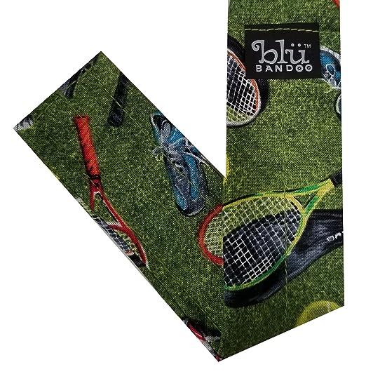 Blubandoo Headbandoo Cooling Headwear - Tennis Print Group - Tennis Gear - High Performing Cooling Crystals