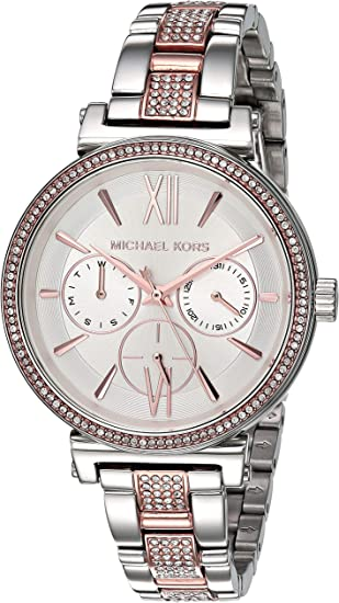 Michael Kors Womens Sofie Quartz Watch with Stainless-Steel ...