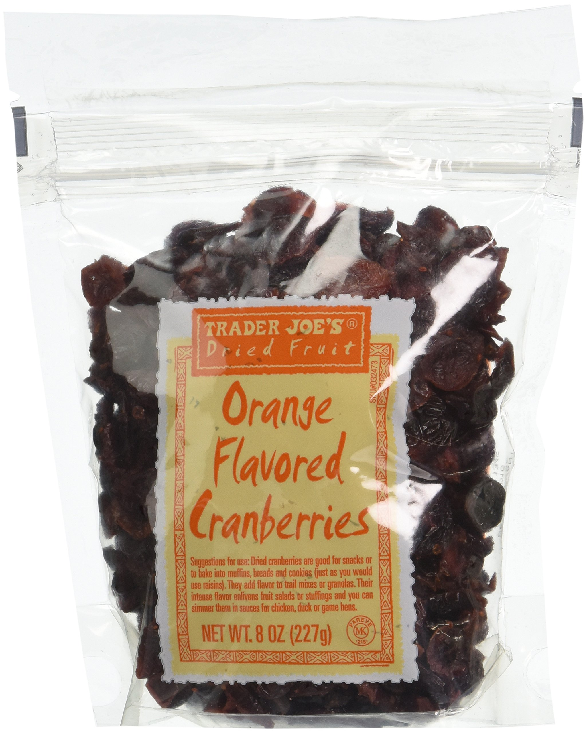 Trader Joe's Dried Fruit: Orange Flavored Cranberries, 8 ounce bags, Set of 4 by Trader Joe (Image #1)