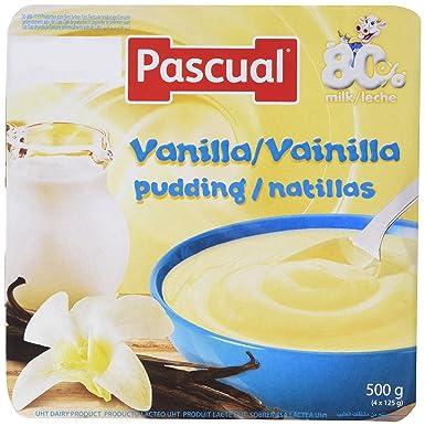 Pascual Natillas Vainilla - Paquete de 4 x 125 gr - Total: 500 gr -