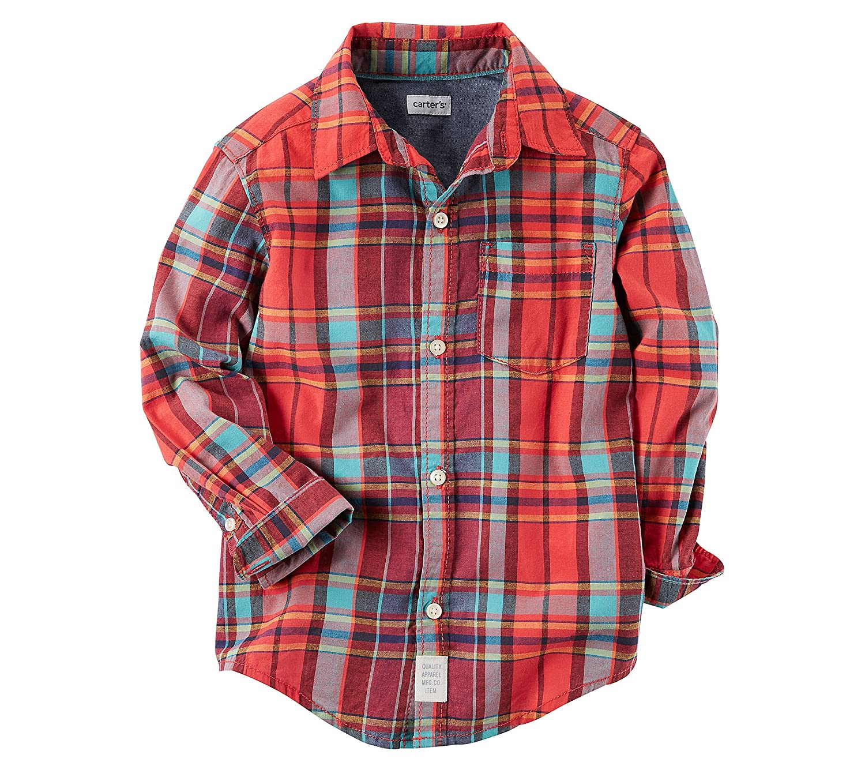Carters Baby Boys Long Sleeve Woven Plaid Shirt Carters 225H041