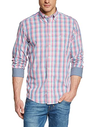 CASA MODA Men s 442042400 Regular Fit Button Down Long Sleeve Casual Shirt f3e530fba1913