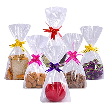 Diffrant 50PCS Bolsas Transparentes Dulces de Regalo-Treat ...