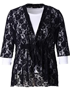 bcfd2ffa717 Chicwe Women s Plus Size Floral Printed Chiffon Summer Cover up with ...