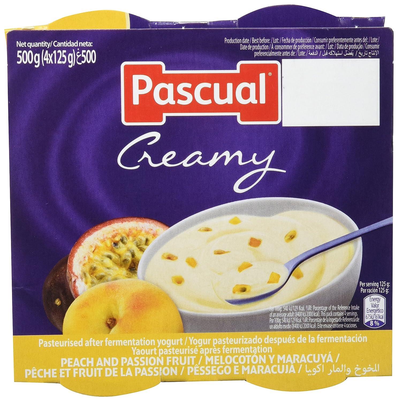 Pascual Yogur Cremoso Sabor Melocotón y Maracuyá - 6 Paquetes de 4 x 125 gr - Total: 3 kg: Amazon.es: Alimentación y bebidas