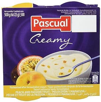 Pascual Yogur Cremoso Sabor Melocotón y Maracuyá - 6 Paquetes de 4 x 125 gr -
