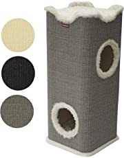 nanook Amigo standfester Katzen-Kratzbaum, stabile Holz-Kratztonne mit Katzenhöhle und Liegeplatz, Kratzmöbel mit gemütlichen Kissen, XXL Höhe 100 cm