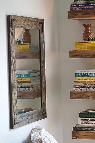Amazon Com Rustic Wall Mirror Large Wall Mirror 24 X 30 Vanity