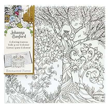 Art Alternatives Johanna Basford Enchanted Forest Coloring Canvas