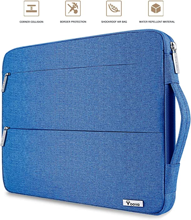 Voova 11.6-12 Inch Laptop Sleeve Case Compatible with MacBook Air 11/Acer Chromebook R11/Surface Pro X 7 6 5 4/HP Stream/Asus,Water Resistant Notebook Protective Cover Carry Bag with Pocket,Light Blue