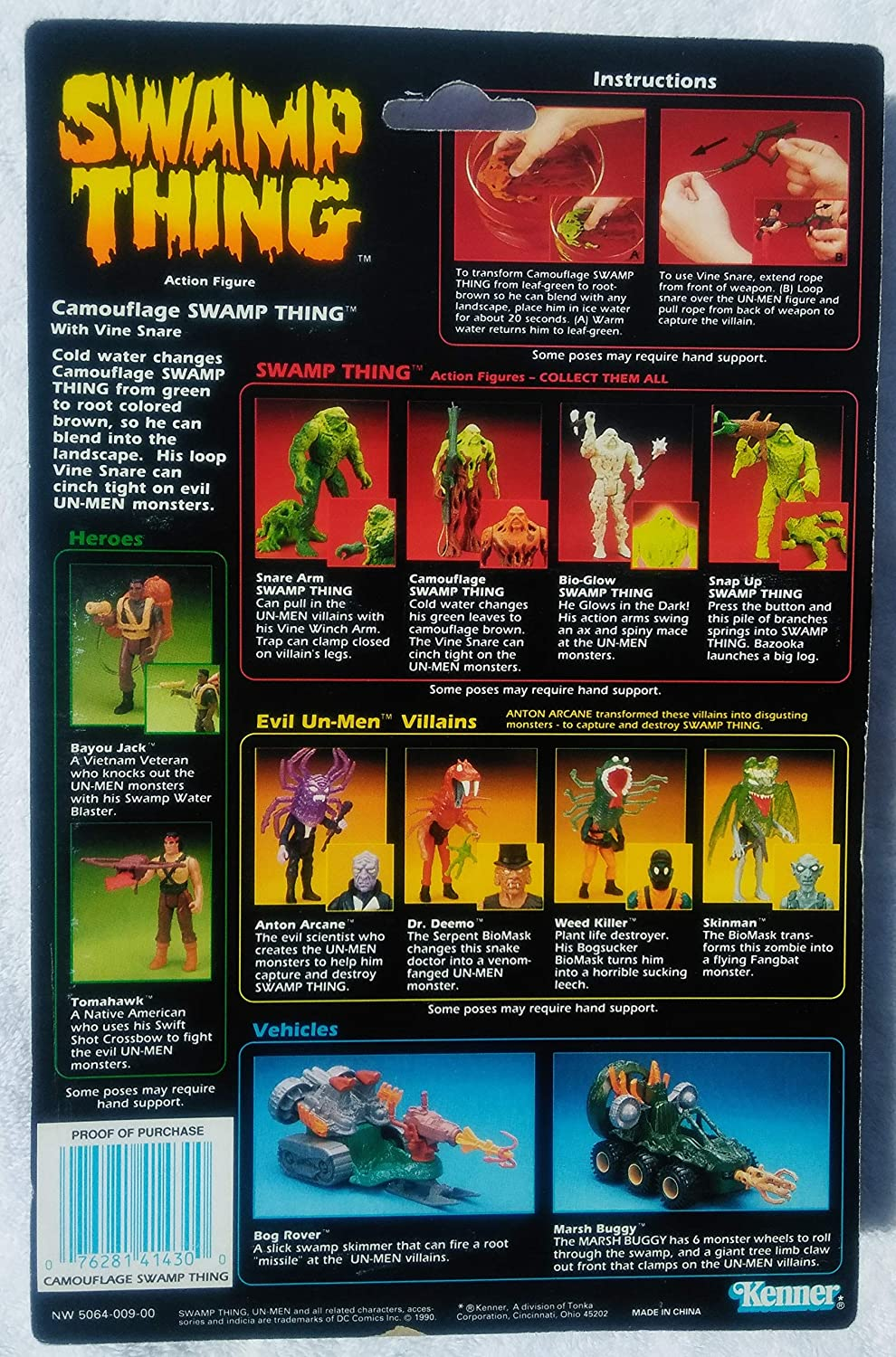 Swamp Thing - Camouflage Swamp Thing Figure by Kenner ...