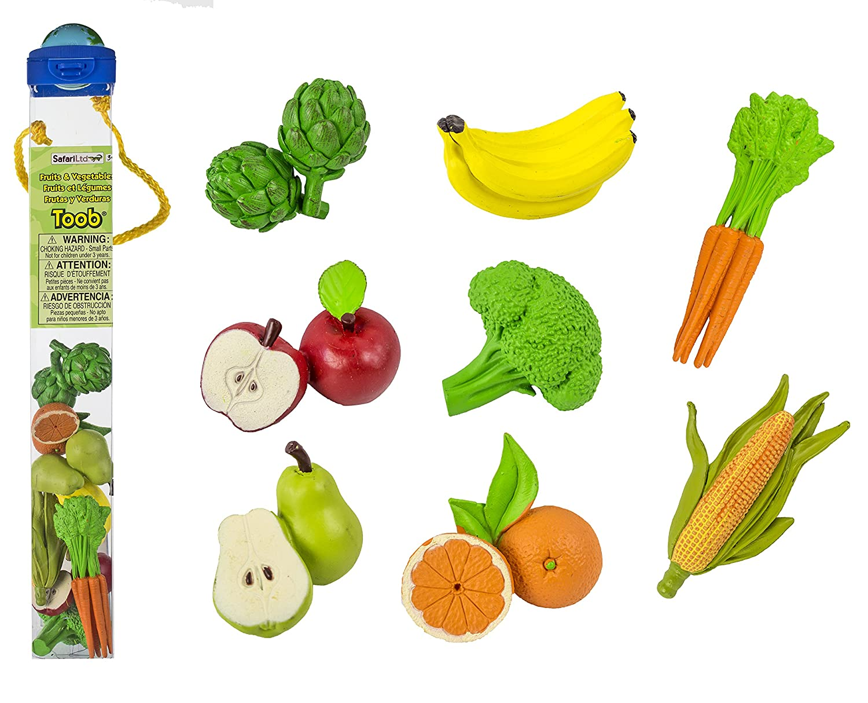 Safari Miniature di plastiche In Toobs-frutta e verdura: Amazon.es: Juguetes y juegos