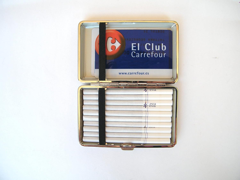 Kristan Art - Pitillera Dura para Mujer Tarjetero Caja para Cigarrillos Slim Size Cigarrera Floral Tabaquera Estuche Cartera Regalo Para ella: Amazon.es: ...