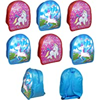 Jiada Unicorn Theme Kids Bags Birthday Return Gift Party Favor Pack of 6 - Assorted Colours