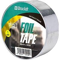 Brackit 48 mm x 60 m Extra lange aluminiumfolie tape | Geleidende, hittebestendige verijdelde tape rollen voor HVAC…