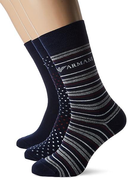Emporio Armani Underwear 3024027a283, Calcetines para Hombre, Azul (BLU Navy 00035),