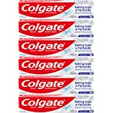 Colgate Peroxide and Baking Soda Toothpaste with Fluoride for Teeth Whitening and Stain Removal, Brisk Mint - 8 ounce (6 Pack