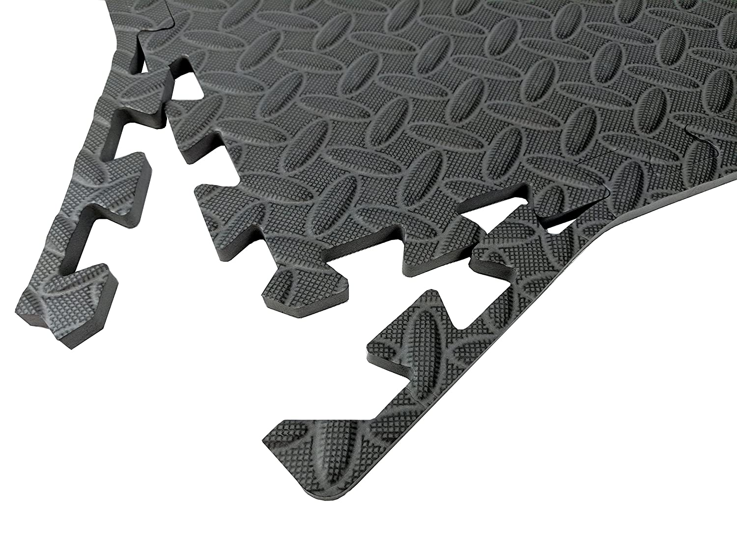 Wacces 12 x 12 inch Multi-Purpose Puzzle EVA Floor Interlocking Foam Exercise Mat Tiles
