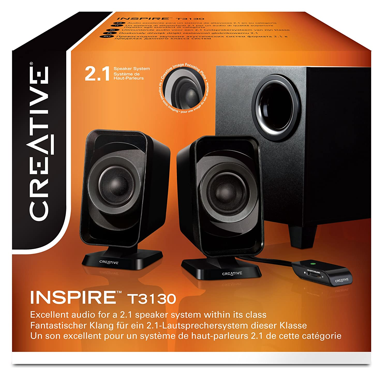 Amazon.com  Creative Inspire T3130 2.1 Multimedia Speaker System   Electronics dd3af3e065548