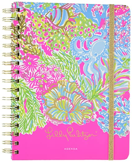Large 17 Month 2016-2017 Agenda - Lovers Coral