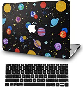 LuvCase 2 in 1 Laptop Case for MacBook Air 13 Inch (2018-2020) (Touch ID) A1932 Retina Display Rubberized Plastic Hard Shell Cover & Keyboard Cover (Cartoon Space)