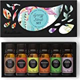 6 Synergy Sampler Pack Pure Therapeutic Grade Essential Oil Gift Set by Edens Garden- 6/10 ml (Anxiety Ease, Aphrodisiac, Breathe Easier, Meditation, Simply Citrus, Spring Garden)