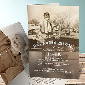Lustige Einladungen Zum 70 Geburtstag Alte Zeiten 70 50 Karten
