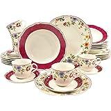 Creatable 16142 Série Cornwall Garden, Service de Table de 30 Pièces Porcelain Multicolor 47x33.5x32 cm 30 unité(s)