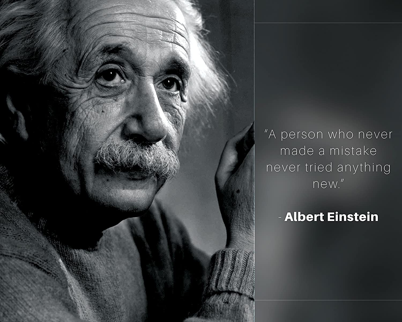Amazon Albert Einstein Photo Picture Poster Framed Quotea