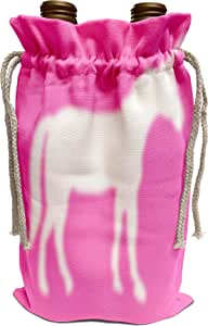 White 3dRose White Unicorn Silhouette on Lilac Purple-Magical Mystical Mythical Fantasy Creatures and Beasts Sports Water Bottle 21 oz