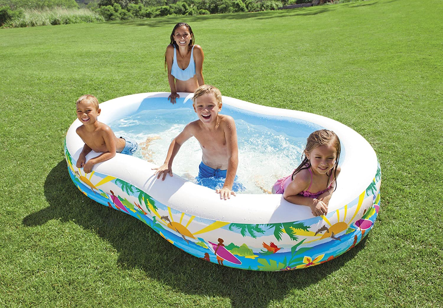 amazon com intex swim center paradise inflatable pool 103