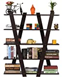 DeckUp Alvo Engineered Wood Book Shelf/Display Unit (Dark Wenge, Matte Finish)