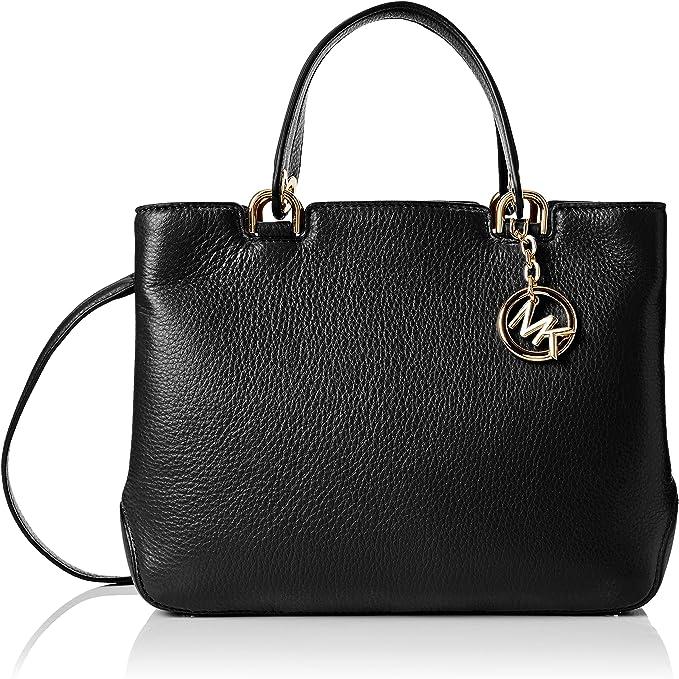 Michael Kors Women's Medium Anabelle Top Zip Leather Top Handle Bag Tote
