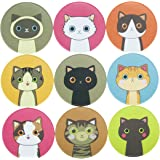 90 Lovely Kitty Cat Stickers for School/Office/Party/Home/Holiday Decoration, 10 sheets