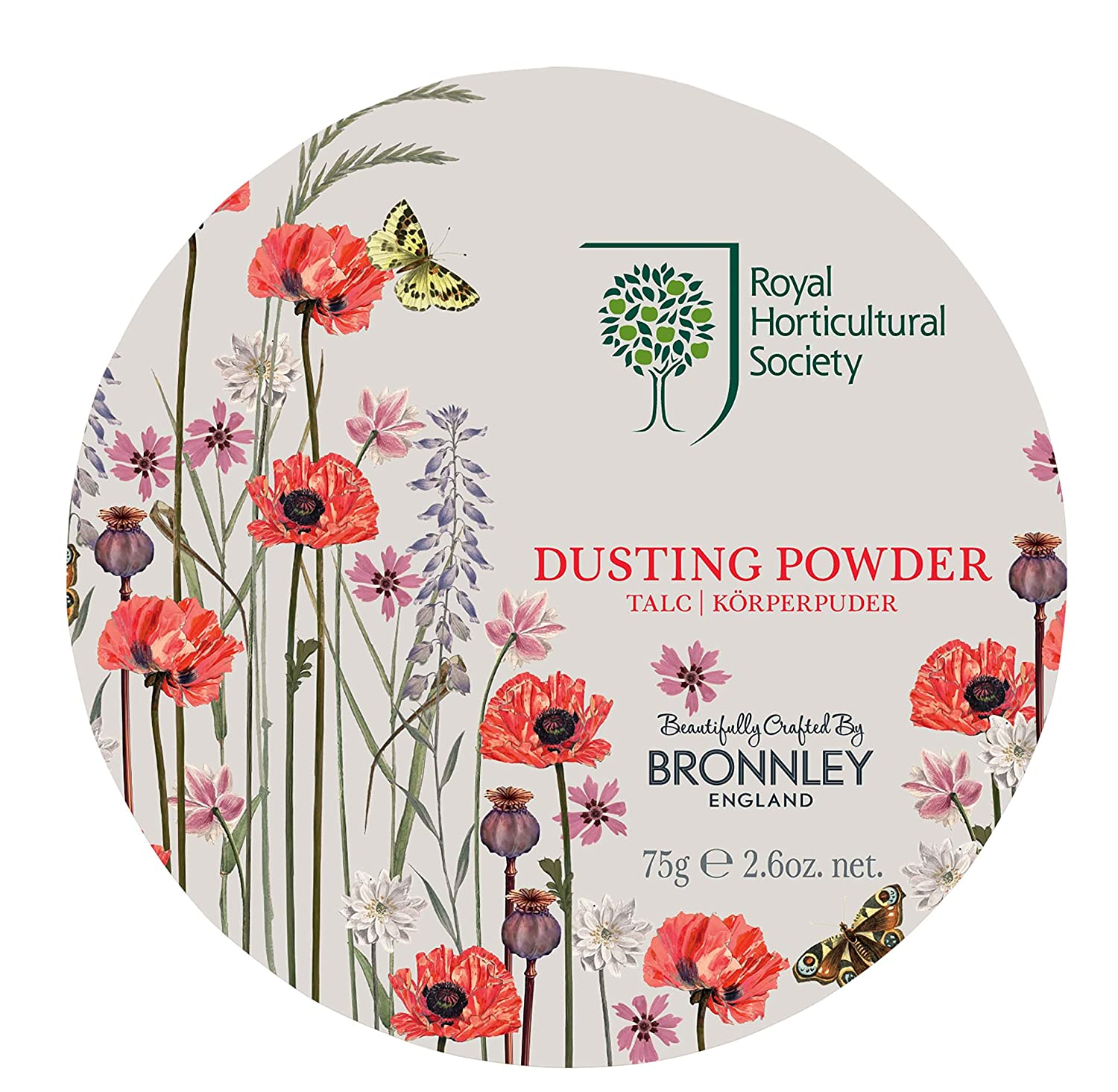 H.Bronnley & Co Royal Horticultural Society Poppy Meadow Dusting Powder 75 g 957094