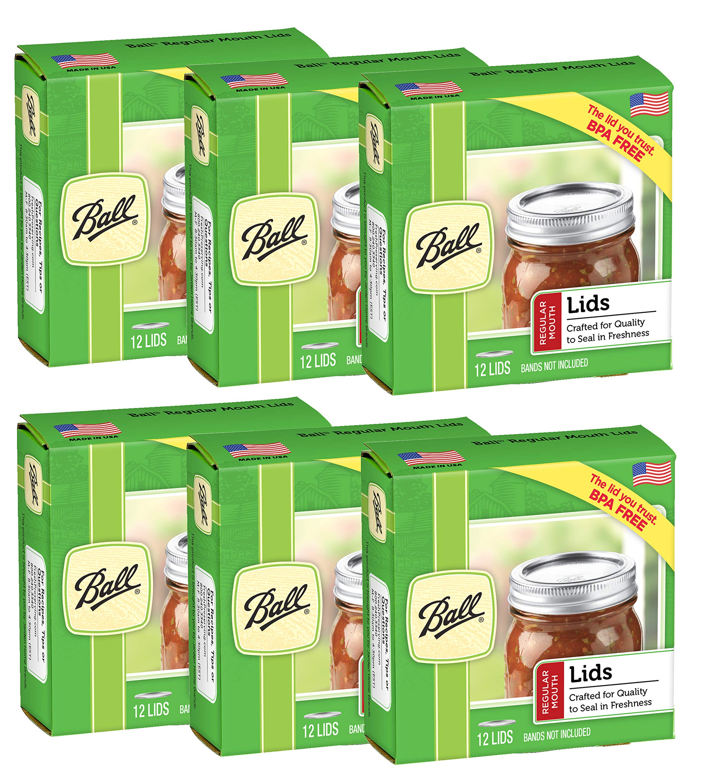 Ball Regular Mouth Jar Lids (6 Pack)