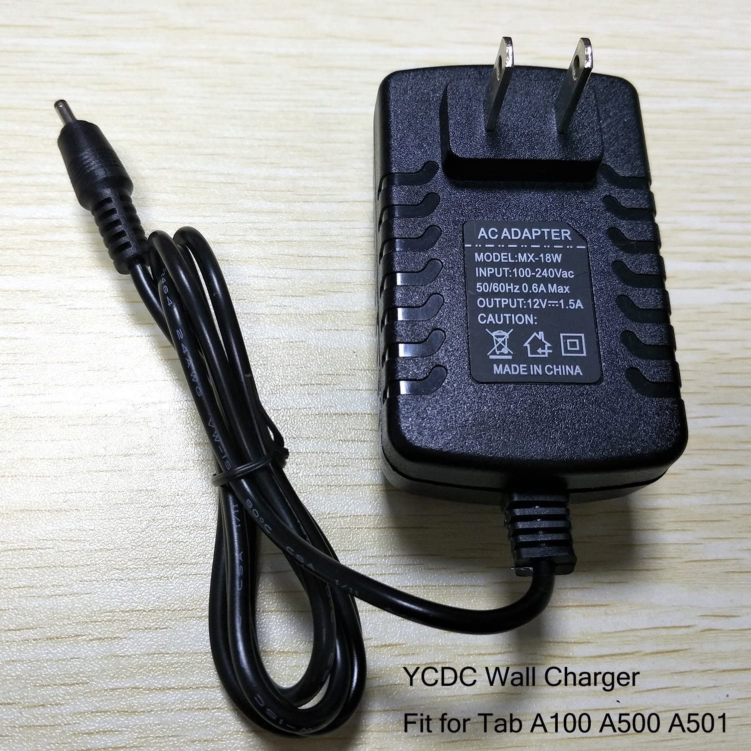 YCDC 12V/1.5A Wall Charger Adapter Acer Iconia Tab A100 A500 A501 Tablet Power Supply, Home Travel Wall Charger,US Plug