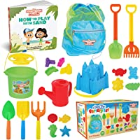 THE STORYBOOK KIDS EXPLORERS CLUB Beach Toys - 23-Piece Sandbox Toys Set for Toddlers - Sandcastle Building Kit of…