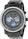 Akribos XXIV Men's AKR439BK2 Grandiose Dazzling Diamond Black Chronograph Watch