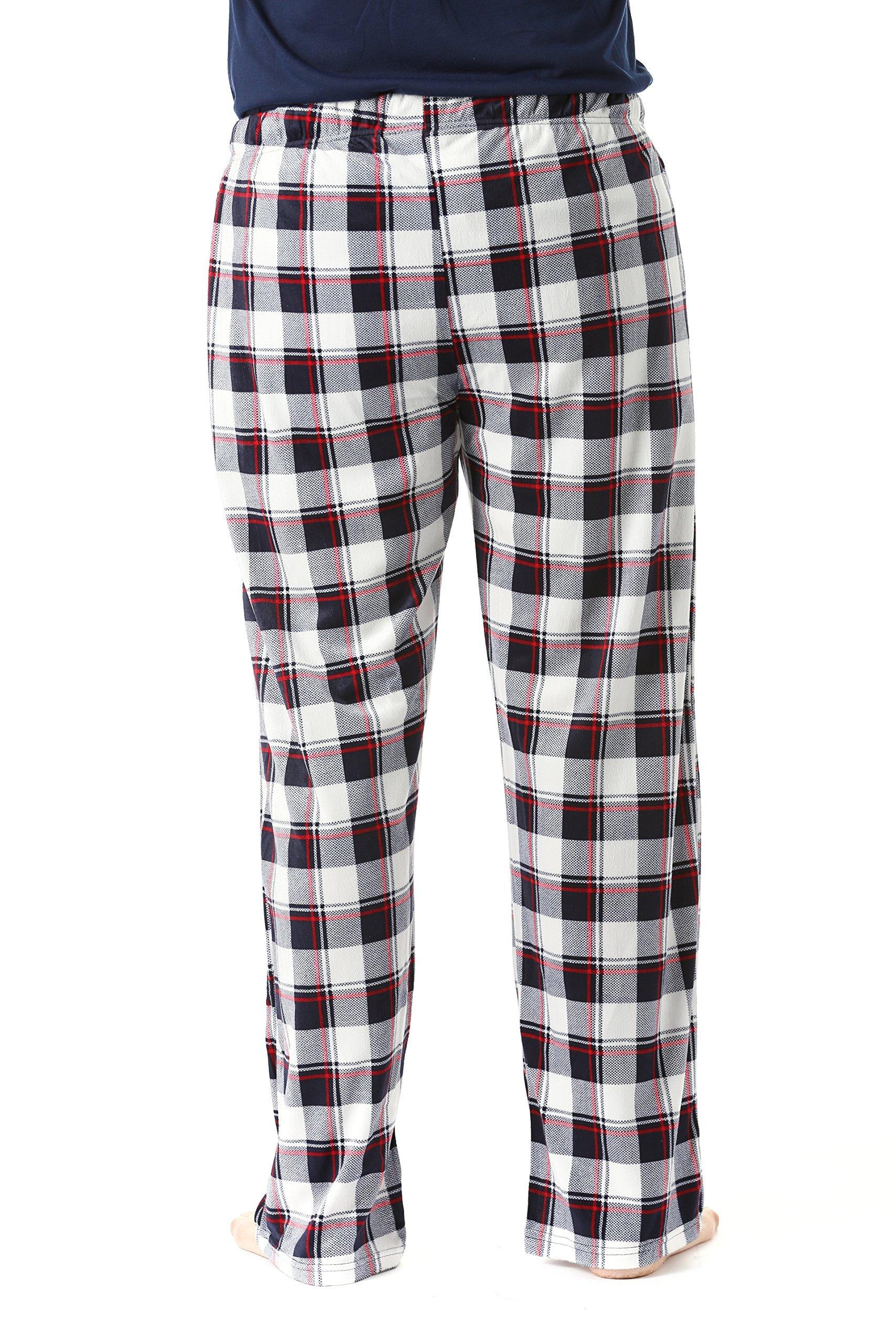 #FollowMe 45903-17-L Fleece Pajama Pants for Men/Sleepwear/PJs,Plaid 17,Large by #followme (Image #3)