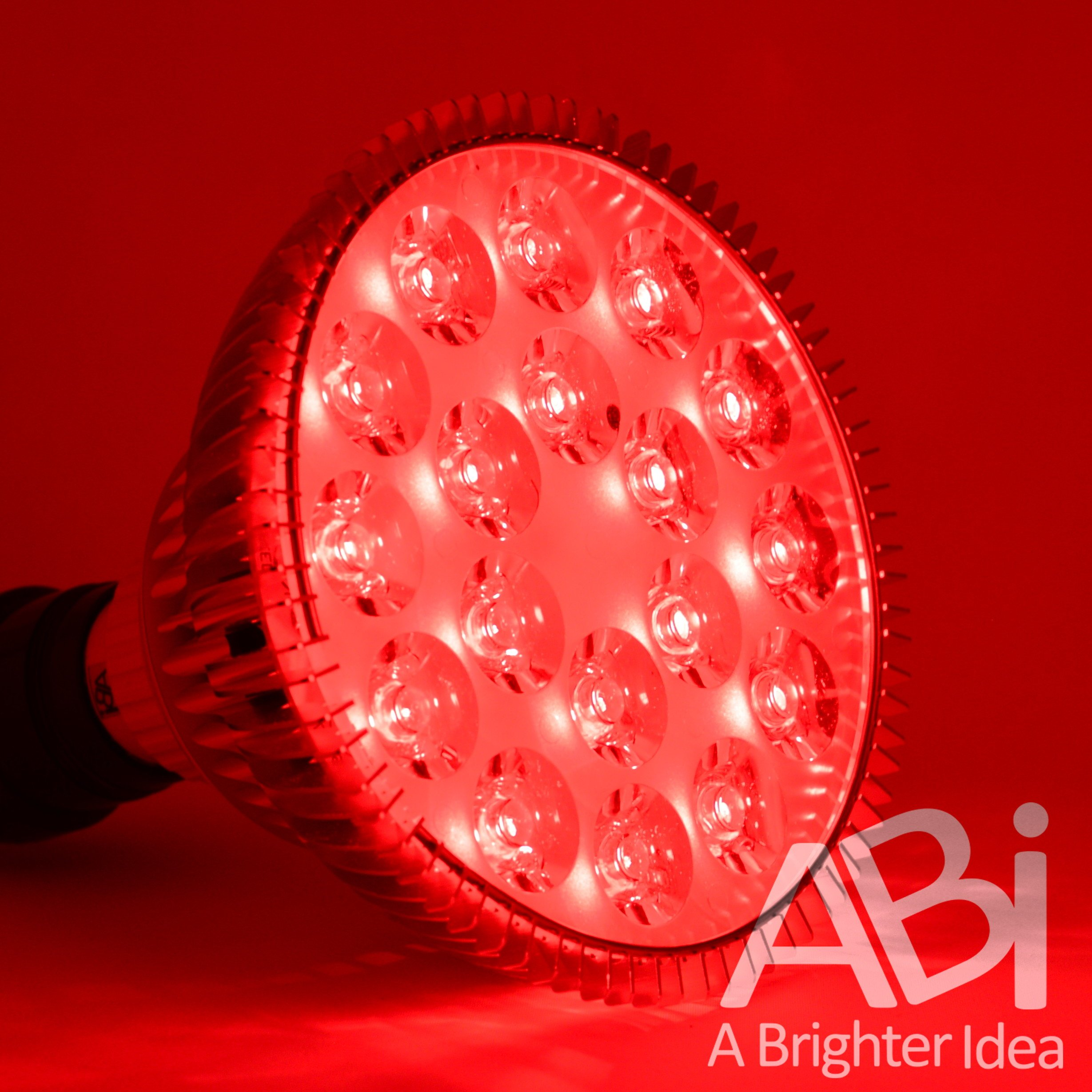 ABI 25W Deep Red 660nm LED Light Bulb Bloom Booster for Flowering, Fruting, Grow Spectrum Enhancement, and Light Therapy