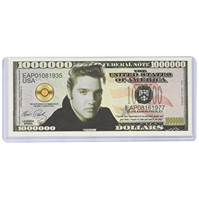 Elvis Presley Million Dollar Bill with Bill Protector: Toys & Games