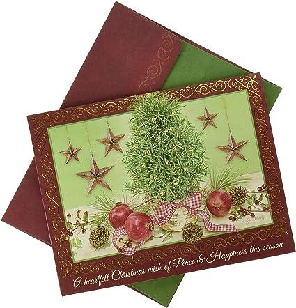 Lang Rosemary 1004832 - Tarjeta de Navidad en caja de árbol: Amazon.es: Oficina y papelería