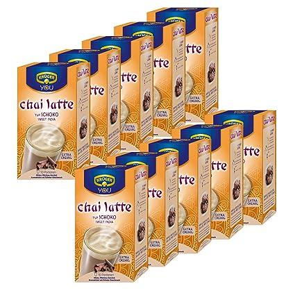Krüger Chai Latte Sweet India, chocolate, té de la leche de bebida y templado