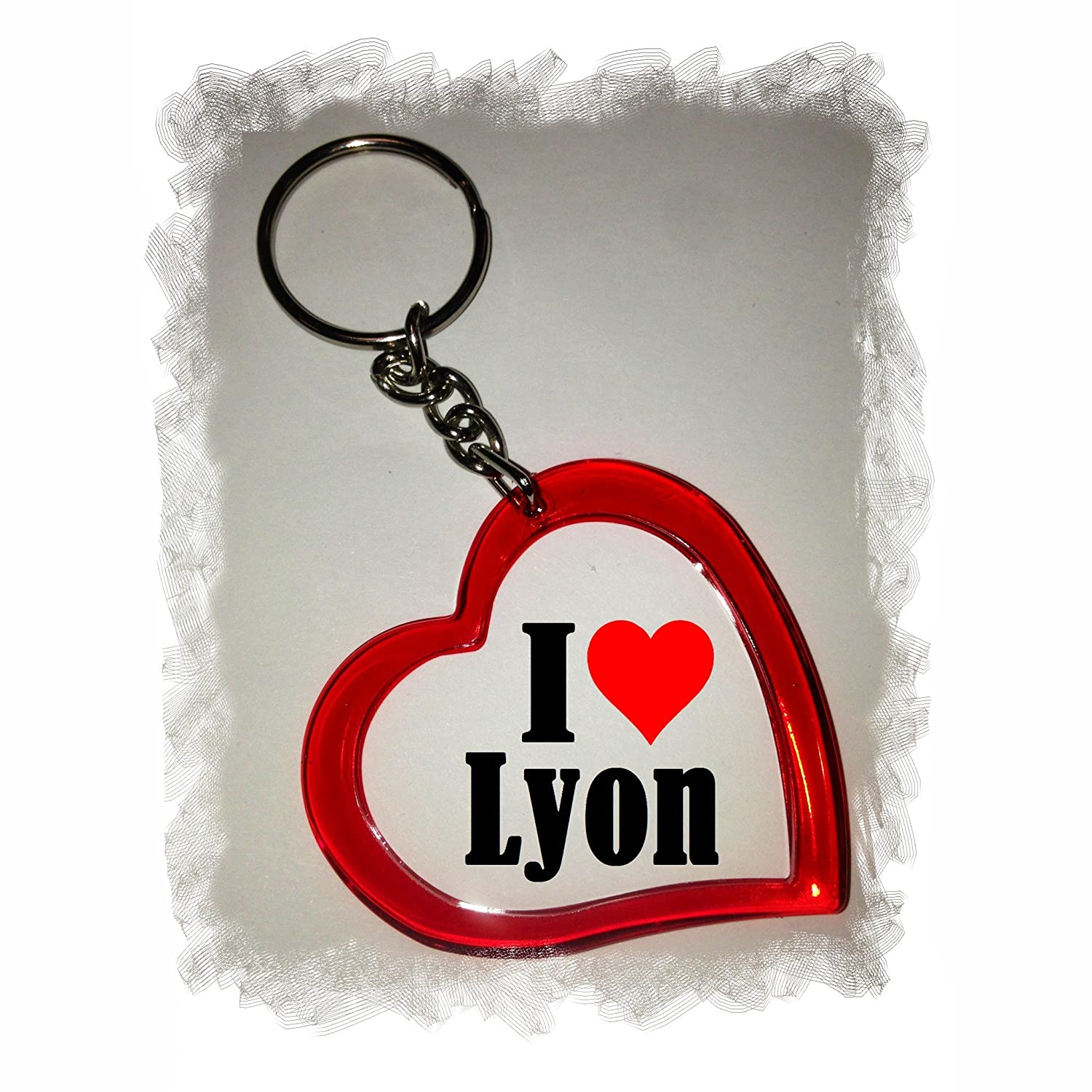 a Great Gift That Comes from The Heart Backpack Pendant Idea: Heart Keyring I Love Lyon Keychains- Keyring Love Pendant