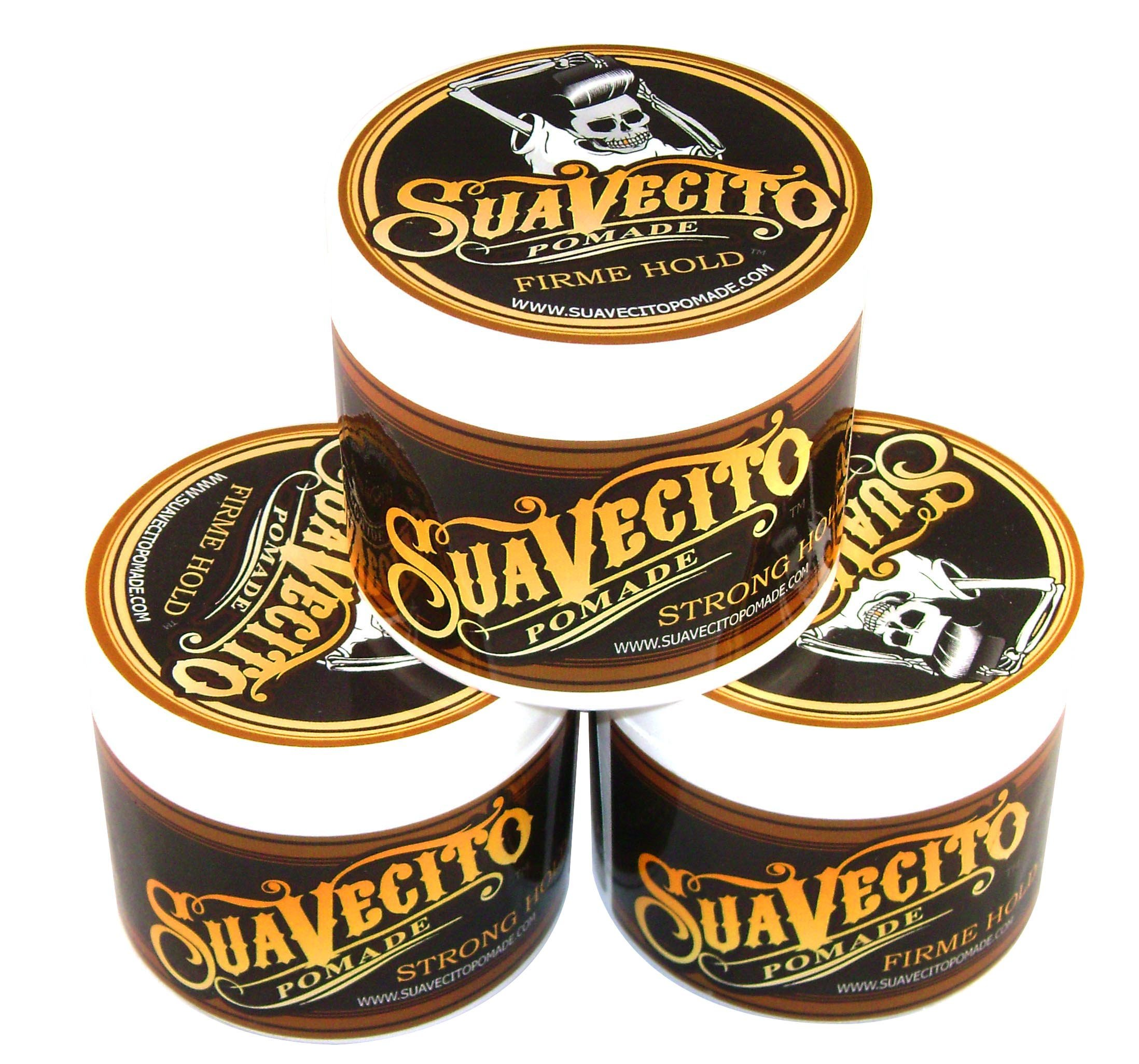 Suavecito Pomade Firme (Strong) Hold 4 oz (Pack of 3) by Suavecito Pomade (Image #1)