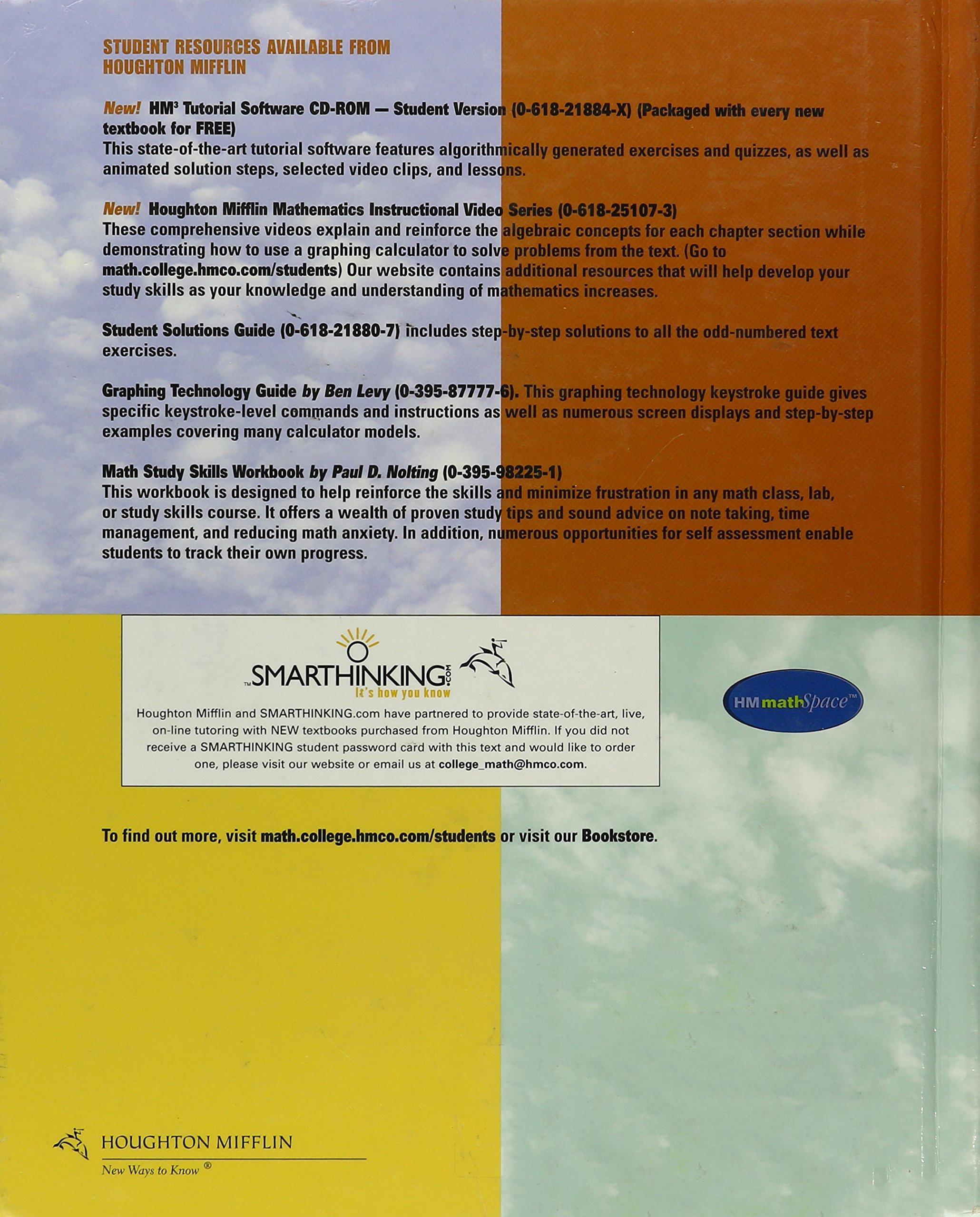 By Ron Larson - Intermediate Algebra: Graphs and Functions: 3rd (third)  Edition: Robert P. Hostetler, Carolyn Neptune Ron Larson: 8580000868135:  Amazon.com: ...
