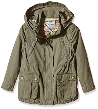 3edc88101fe88 Pepe Jeans Juno - Manteau - Uni - Fille - Vert (Khaki Green) - FR ...