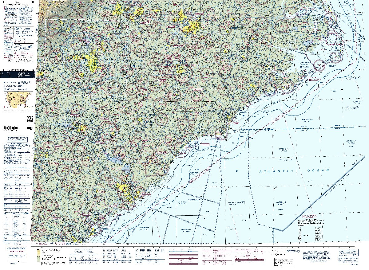 Amazoncom FAA Chart VFR Sectional CHARLOTTE SCHA Current - Faa map of us after 9 11