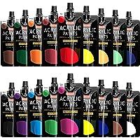 Acrylic Paint, Shuttle Art 18 Colors Acrylic Paint Pouches (120ml/4.06oz), Artist Grade Acrylic Paint Set, Rich Pigments…